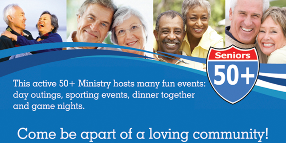 A community of seniors age 50+ at this ministry all have fun and do events together.